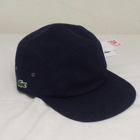 Supreme Lacoste pique Hat cap Super Wanted in Navy Blue new - Depop fc45da393bb