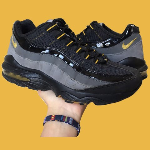 b21911527b @ines_rayment. 2 days ago. Oxford, United Kingdom. Black Grey and Yellow Nike  Air Max 95 OG