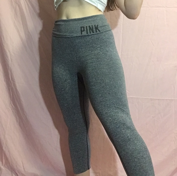 d3f68cdff85a6 This PINK yoga pants are cute to make your butt... - Depop