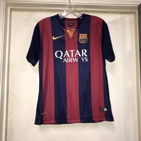 """d2a9068e9ea Authentic nike Barcelona Lionel Messi Jersey. """"A"""" on the - Depop"""