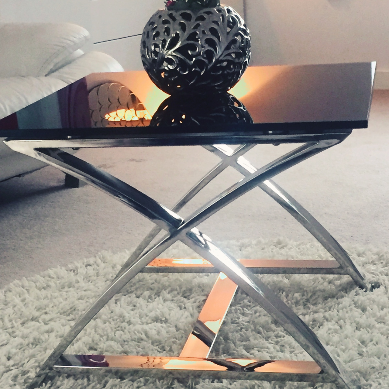 Black Coffee Table From Furniture Village In Very Depop
