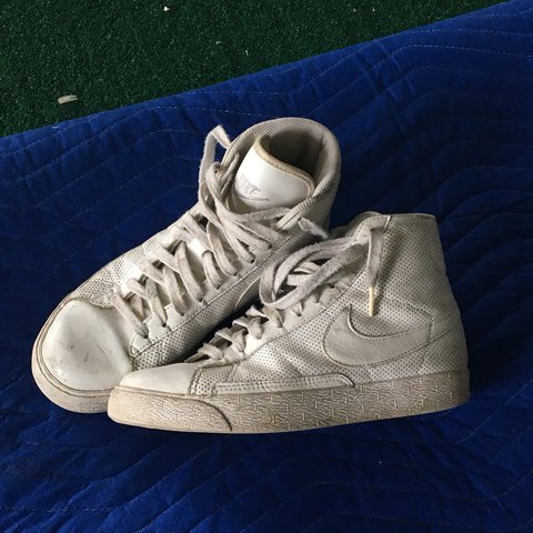 wholesale dealer 968c9 2a4c5  lucia mt. last year. Baltimore, United States. NIKE BLAZERS, perforated white  leather ...