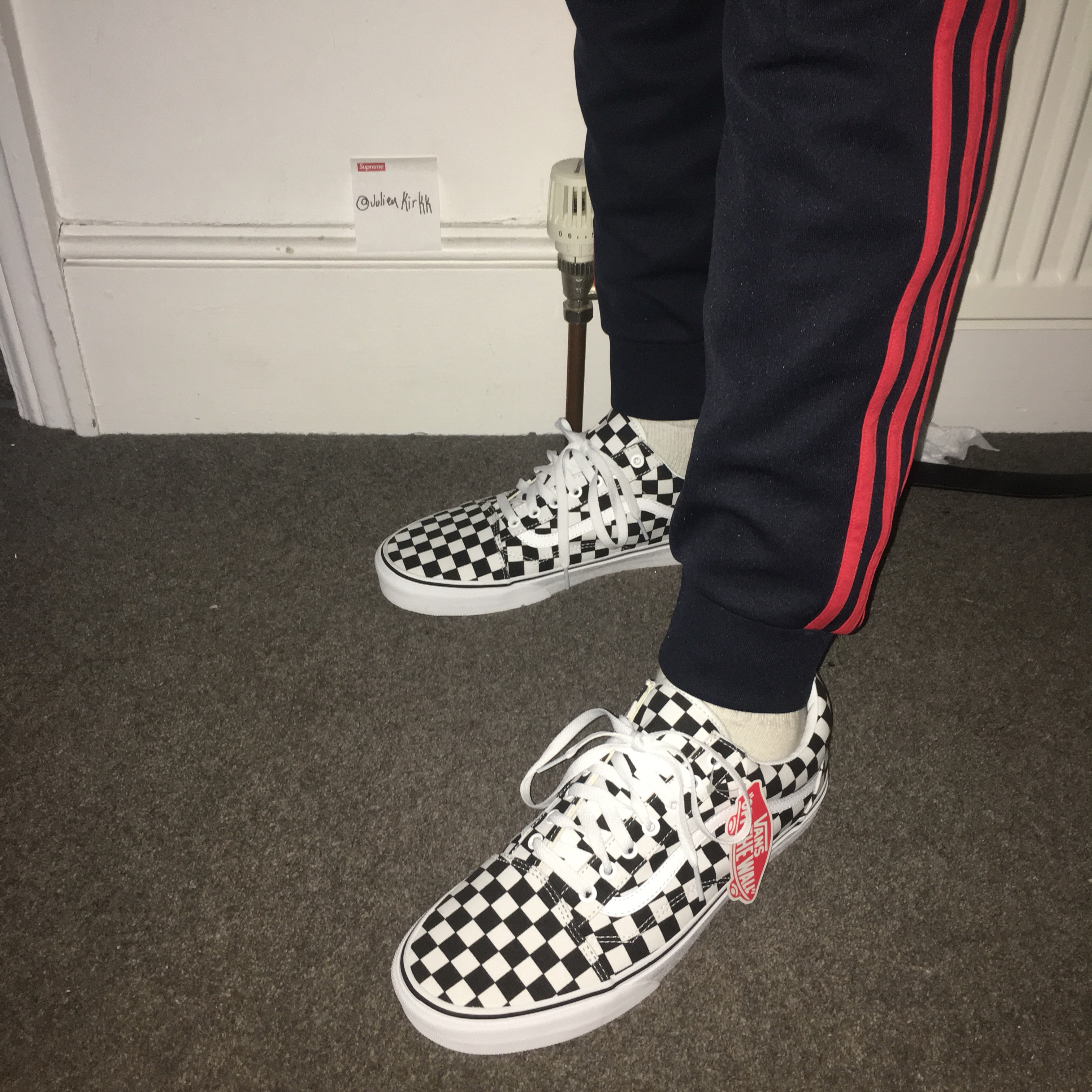 Old PieceGet Custom Vans SkoolHard Checkerboard rCdeWQxBo