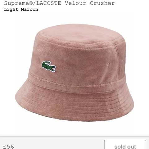 4521740d26 Supreme x Lacoste bucket hat. Pink. Listening to offers over - Depop