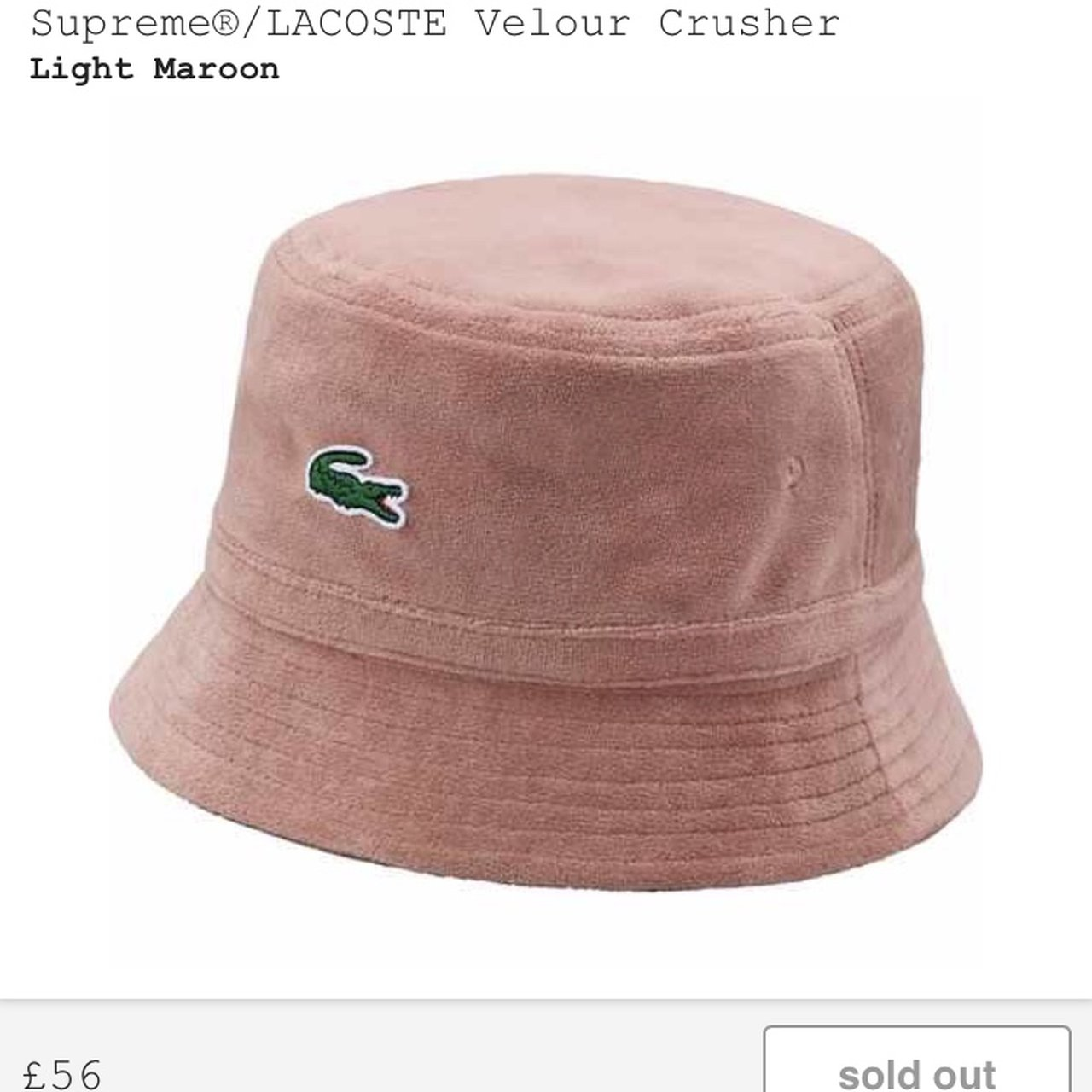 Supreme x Lacoste bucket hat. Pink. Listening to offers over - Depop 44581b0ecb9