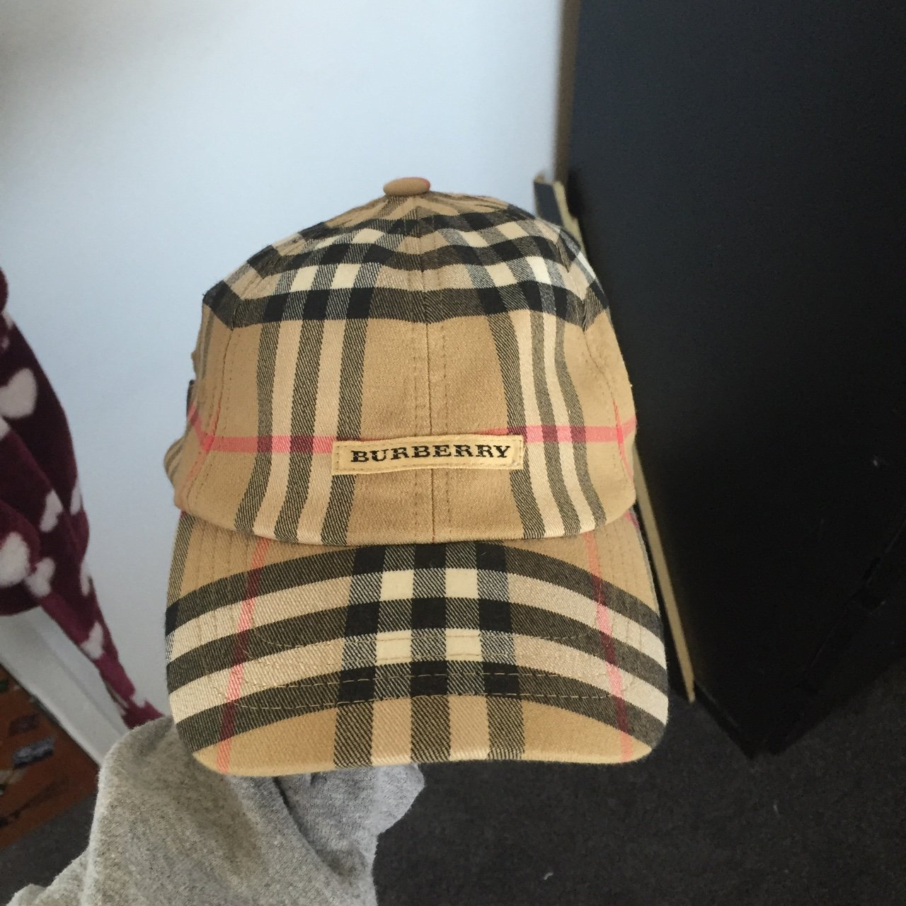 Burberry nova check golf hat cap good condition - Depop 70d607169e5
