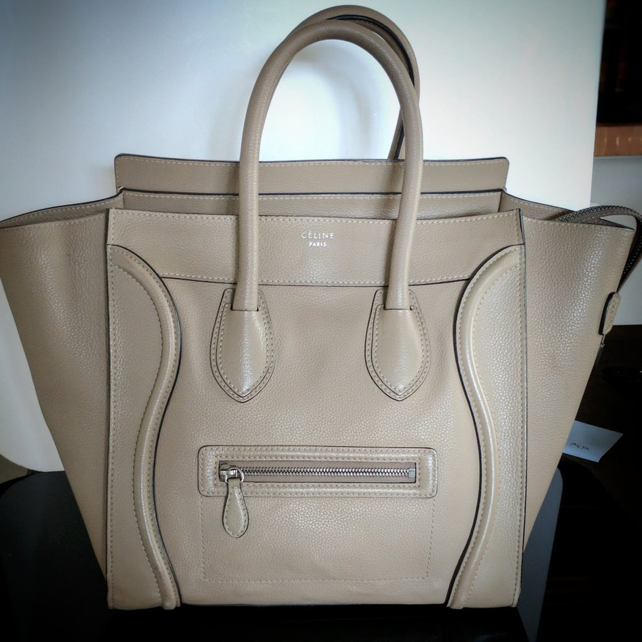 Celine beige mini luggage CONDITION Gently Used Leather 34ce6d0e6c0af