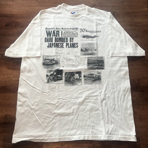 Vintage Single Stitched 50th Anniversary Of Ww2 T Shirt Depop