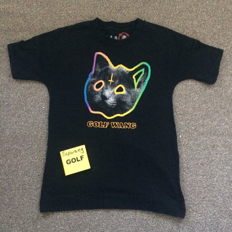 79d1efee79d0 Golf Wang Tron Cat T-Shirt in black