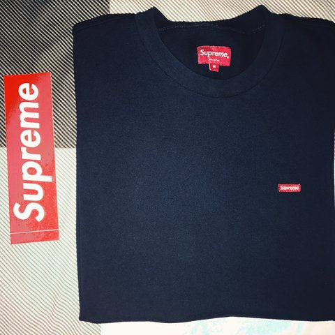 Sanjeev171 Last Year London United Kingdom Supreme Small Box Logo Tee In Navy
