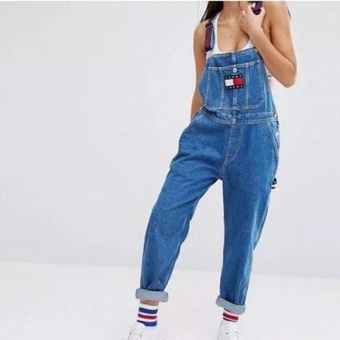 d5ff881c998 wanted  LOOKING TO BUY  Tommy Hilfiger dungarees in XS. if - Depop