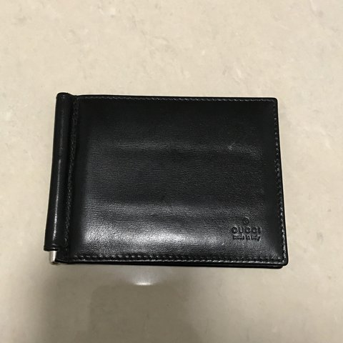 6160793931e Mens Authentic Gucci Wallet. Money Clip   Up To 4 Condition - Depop