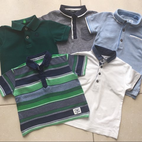dfde9cb6d Baby boys polo shirt bundle. 12 months. 5 x Polo shirts from - Depop