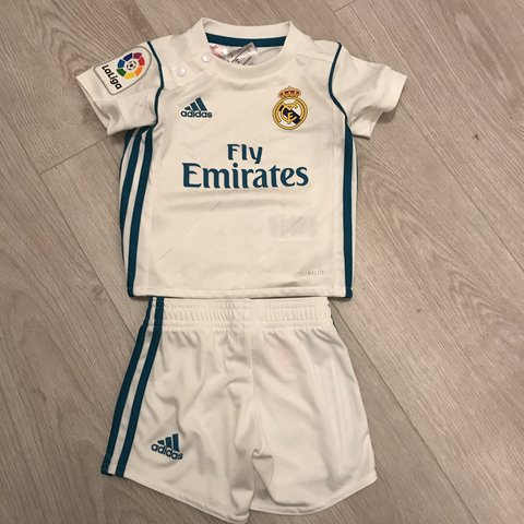 6d5708a52 Real Madrid baby football kit (Socks not included) Never - - Depop