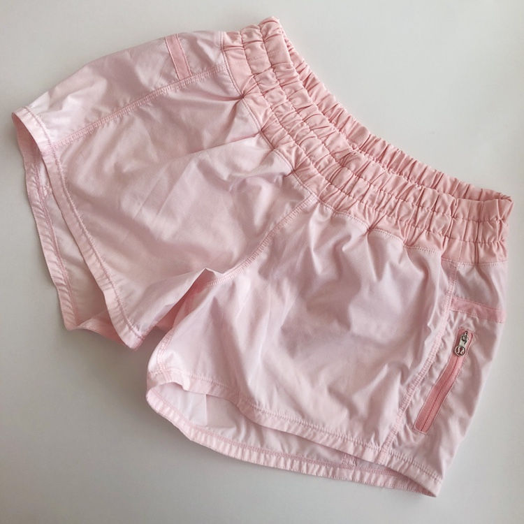 Light Pink Lululemon Shorts Size 4 Super Cute Depop