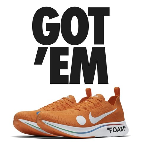 c91301ad94c0 @tomexton18. 10 months ago. United Kingdom. Nike Zoom Fly Mercurial Flyknit x  Off White shoes sneakers brand new ...
