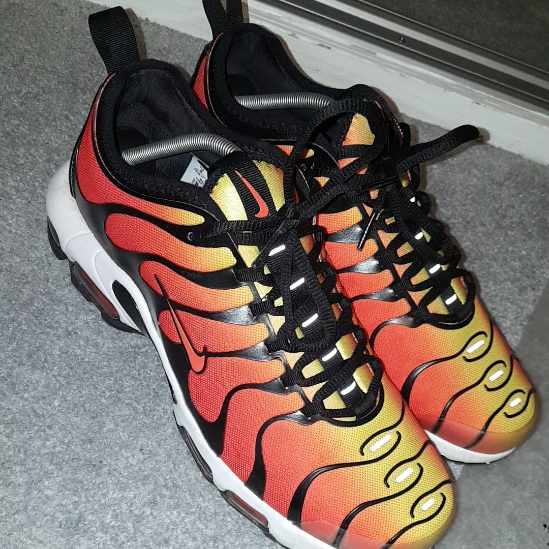 promo code 0b9d9 65030 Nike tn orange and red fire colourway with white... - Depop