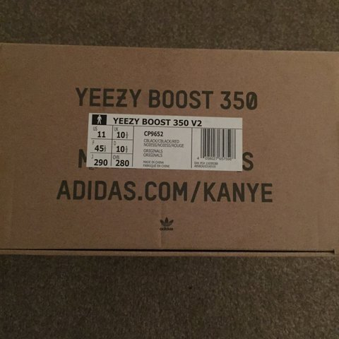 a80d2c9f933fc Adidas Yeezy Boost 350 V2 BRED Black  Red Uk 10.5  US DS