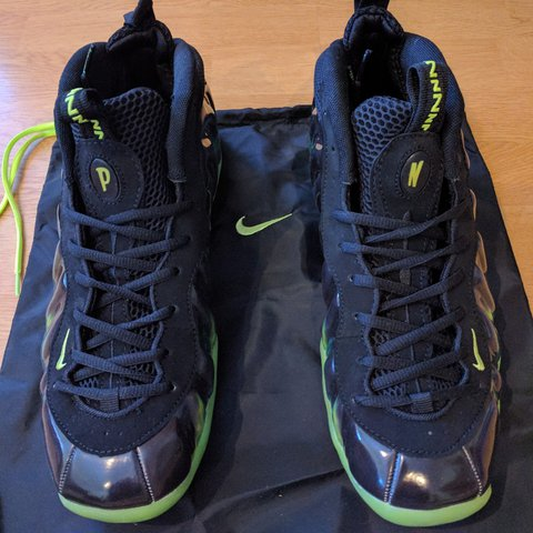 online store e6054 f4efe @didzis2017. 2 years ago. Mārupe, Mārupes novads, Latvija. New Nike air  foamposite one paranorman + dust bag. Black, black-electric green.