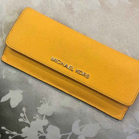 513f64730bf6 Michael Kors mustard yellow everyday wallet with multiple - Depop