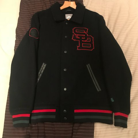 """a91526074 Nike SB """"Gucci"""" baseball jacket. About 6 years old... - Depop"""