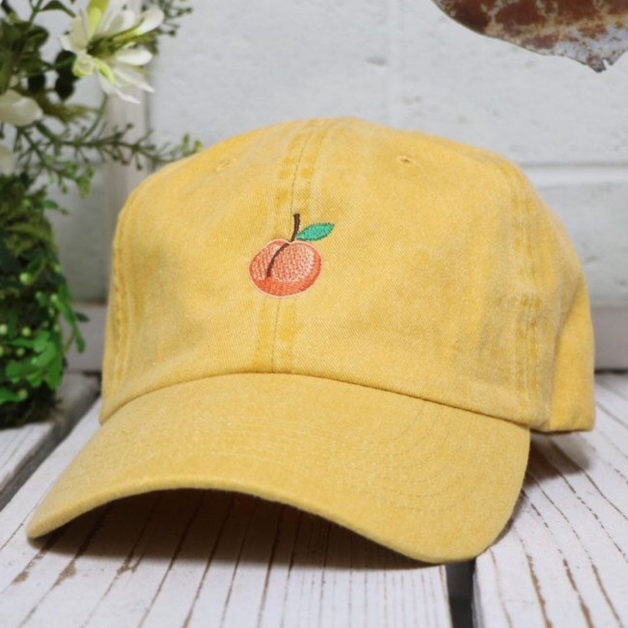 af77b754727c3 Iconic Yellow Peach Baseball Cap 📦
