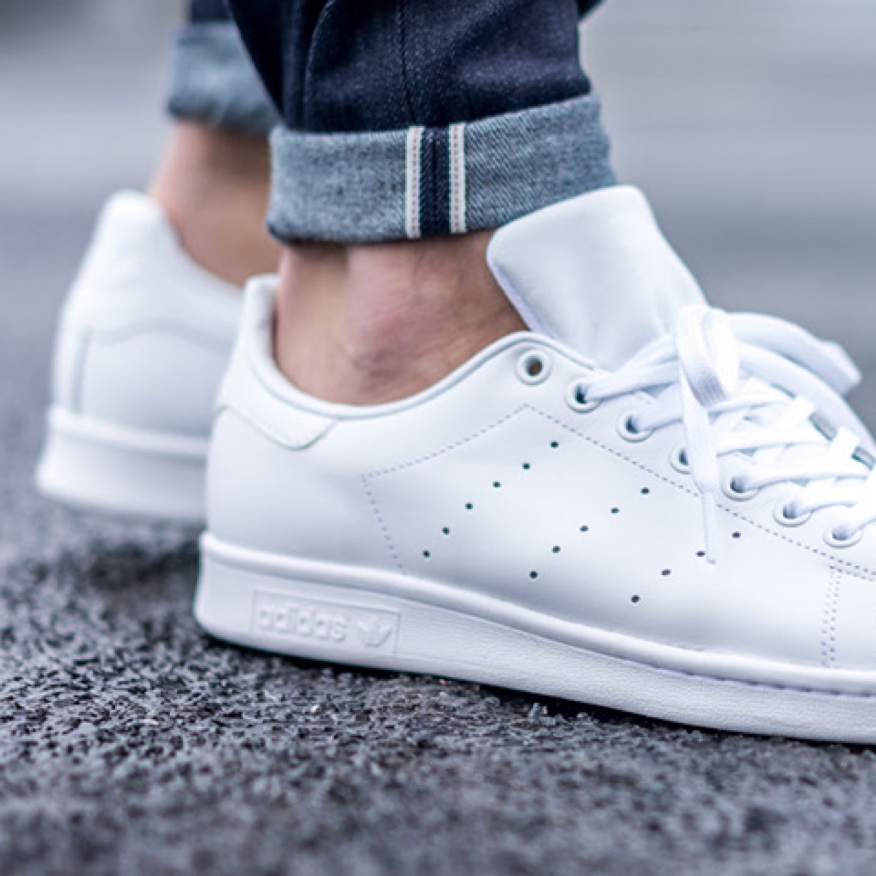 photos officielles b1332 e12fb All white stan smith sneakers by Adidas. Size 7 US... - Depop