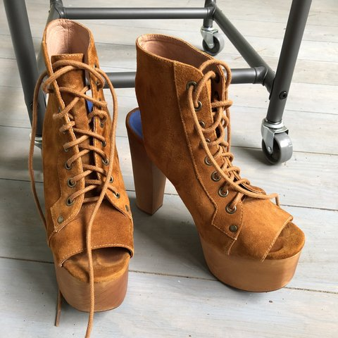 8f9df32b219 Jeffrey Campbell x Free People Suede Leather Platform High I - Depop