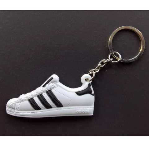 uk availability c665a 68276 Adidas Superstar Keyring - White with Black Stripe The are - Depop
