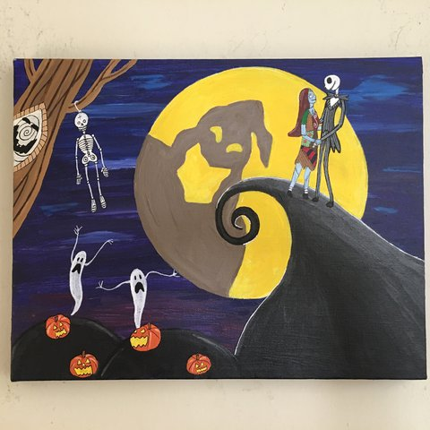 Nightmare Before Christmas Print 11x14 Printed On Cardstock Depop