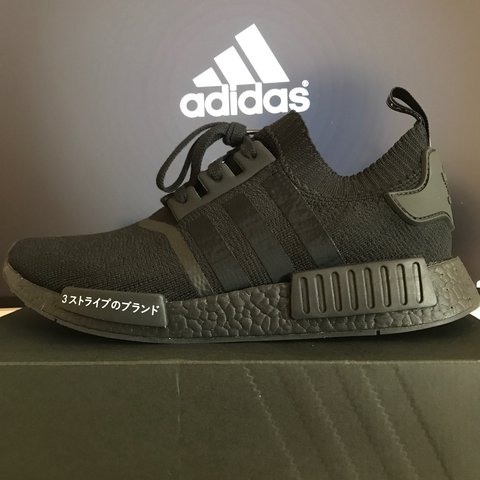 4ef087cf88bad Adidas NMD R1 Japan Pack Size 11 Triple Black Deadstock Free - Depop
