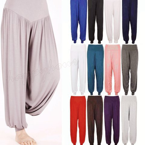 Womens Harem Trousers Ali Baba Long Pants Baggy Hareem Leggings Plus Size 8-26 Clothing, Shoes & Accessories Women's Clothing