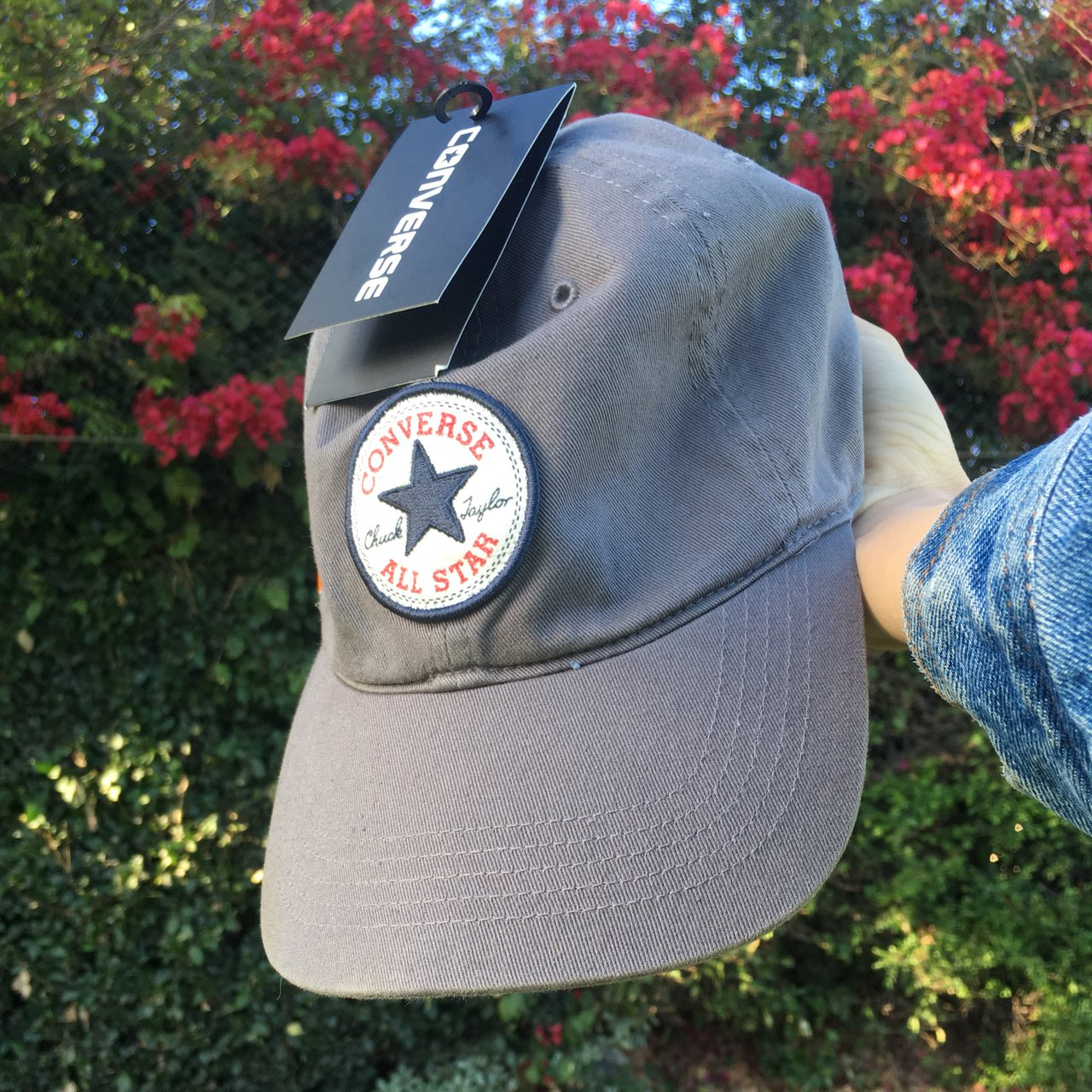 Converse All Star Grey Dad hat 🧢 ⭐ Adjustable back. 100% - - Depop ddb796fdf2b4