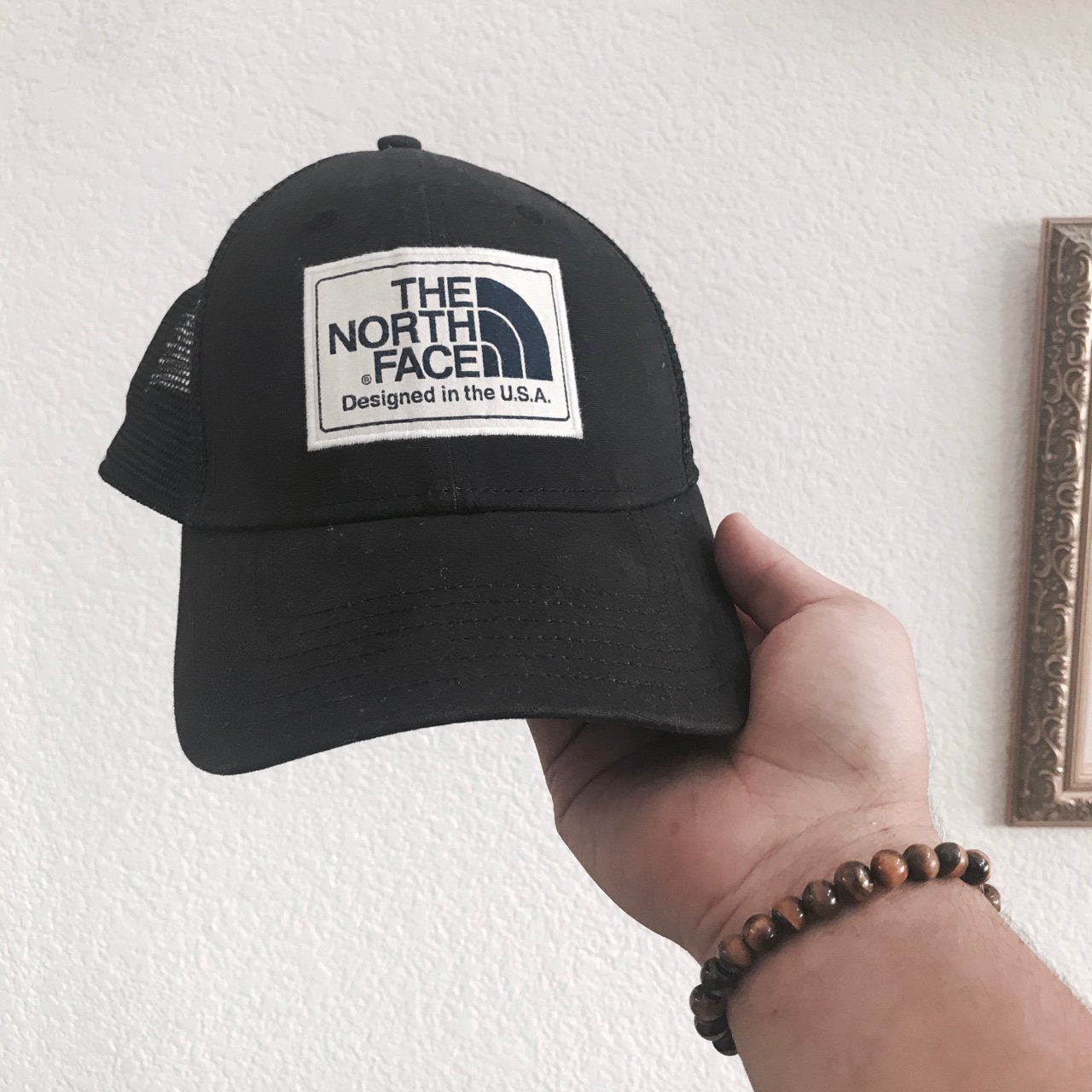1ddb03e60ea Vintage Northface Black Trucker hat Made
