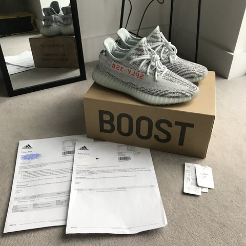 896798999f4d2 Adidas Yeezy boost 350 V2 blue tint Condition 9 10 Insoles - Depop