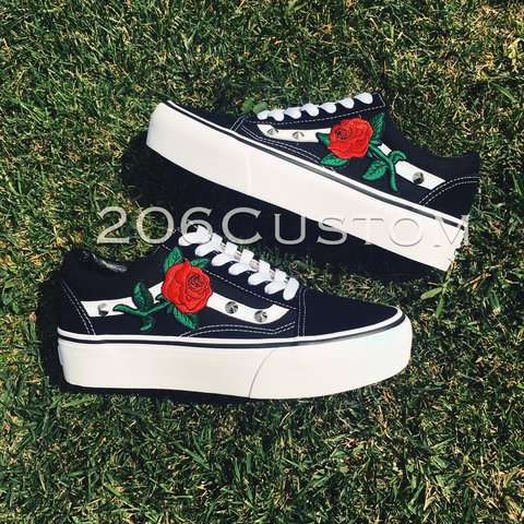 vans old skool rose platform