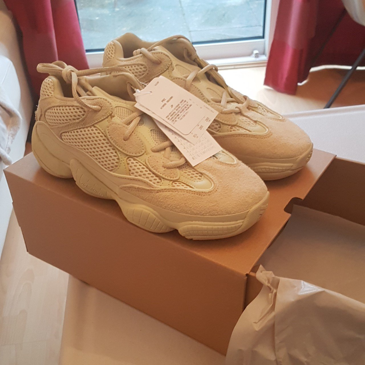 eb484d96c Adidas Yeezy 500 supermoon yellow. Brand new. Won from In UK - Depop
