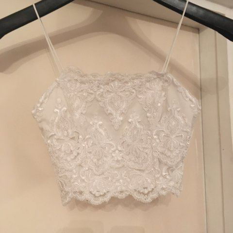 a49f1de2bcd895 Beautiful white lace crop top bralet from topshop. Love it 6 - Depop