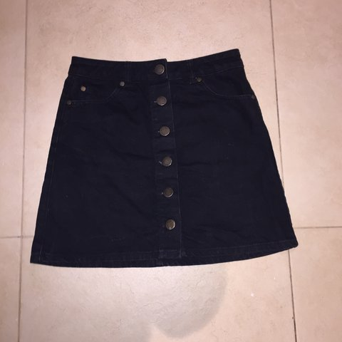 9c8a2aa7a @aoifebuckley212. 2 years ago. Kilcullen, Co. Kildare, Ireland. Black denim  skirt with buttons down the front from miss selfridge.
