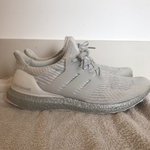c69a8bf47 adidas ultra boost in white grey silver 3M reflective and UK - Depop