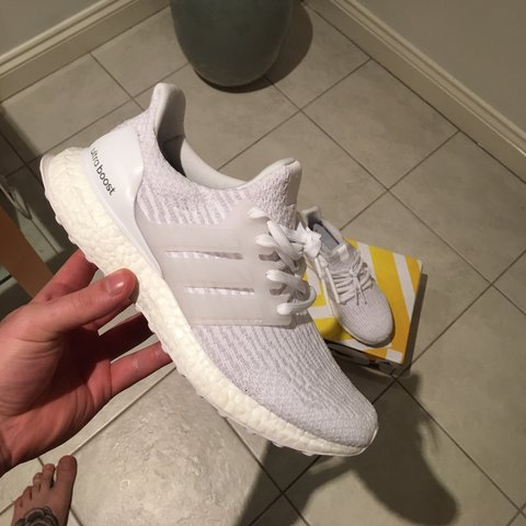 148f0334529 Ultra boost 3.0 Been worn twice inside as can see from in - Depop
