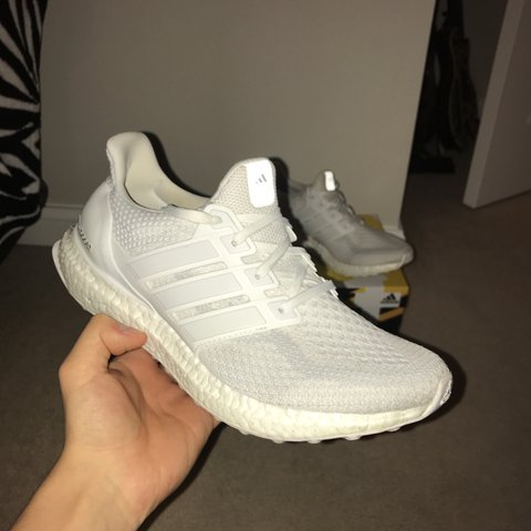 68f04bc68628d Adidas Ultra Boost 2.0 in triple white with OG box Size of - Depop