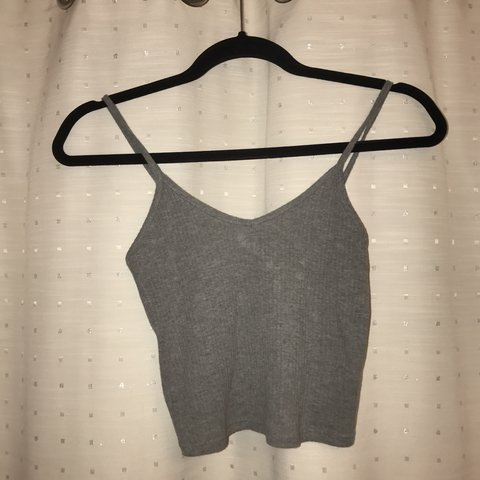 2c8a5528c2f084 Strappy low swing, thin strapped crop tops. One grey, one or - Depop