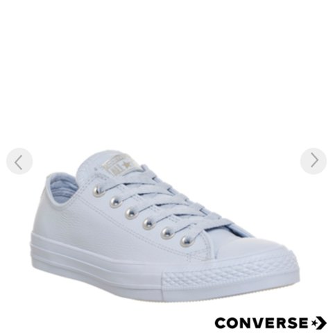 Anyone selling these converse  Blue leather or suede size 5  - Depop 30e726446