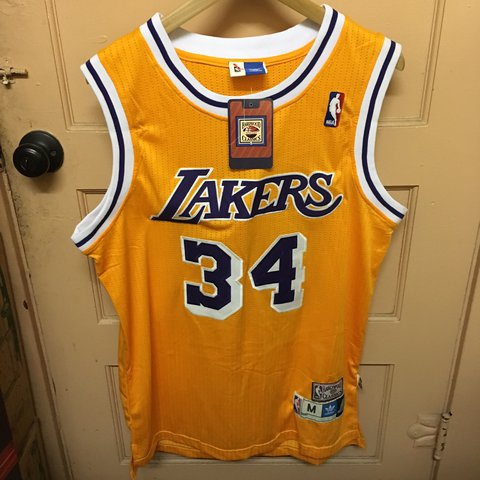 9b7ea7eda588 Vintage Los Angeles Lakers Jersey SHAQ Shaquille O Neal in - Depop