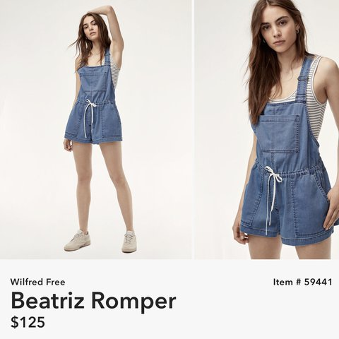 34ed1b18c2d7 DENIM WILFRED FREE BEATRIZ ROMPER ORIGINAL PRICE  125 MY - Depop