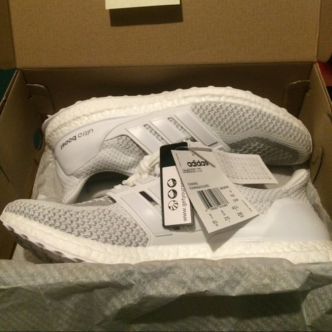 6be8c4bb5583a Adidas Ultra boost White reflective LIMITED 3m all over the - Depop