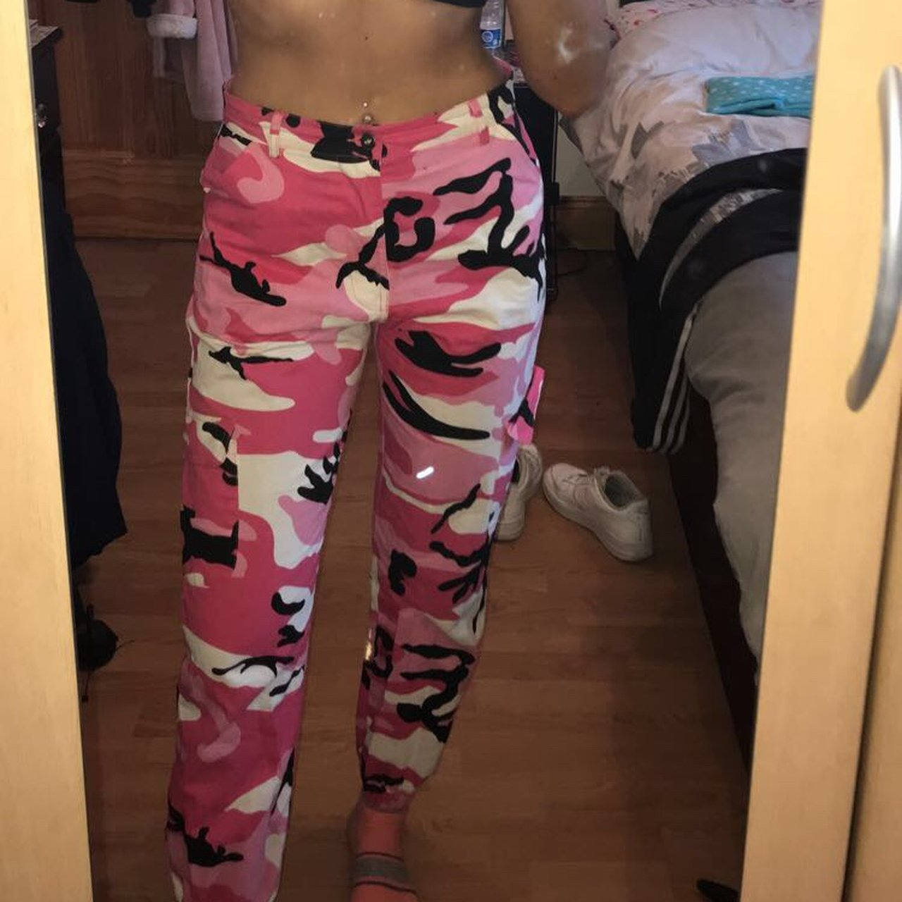 b66971f4fb9a Pink camouflage trousers
