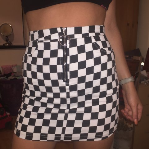 410d568a81e5 @_shannonconnell_. 9 months ago. Carrowbrowne, Ireland. Motor cross skirt.  Black and white with o ring zip detail