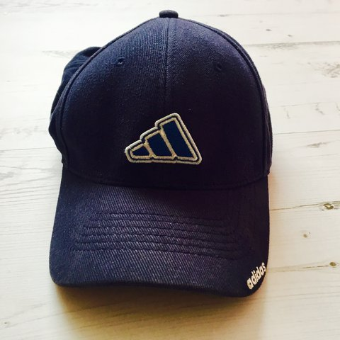 450ab804c0a Vintage adidas baseball cap   One size fits most Navy blue - Depop